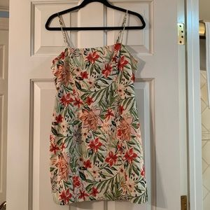 NWT Farrow Floral Print Mini Dress